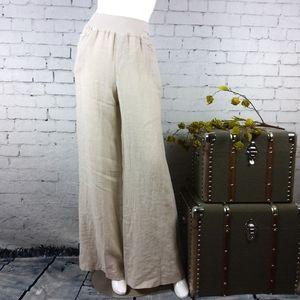 NWT Belle France high-rise, wide leg linen pants